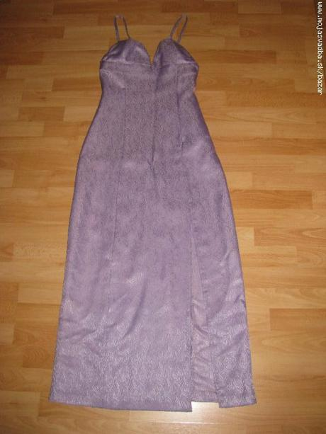 Fialkové spoločenské šaty, 38
