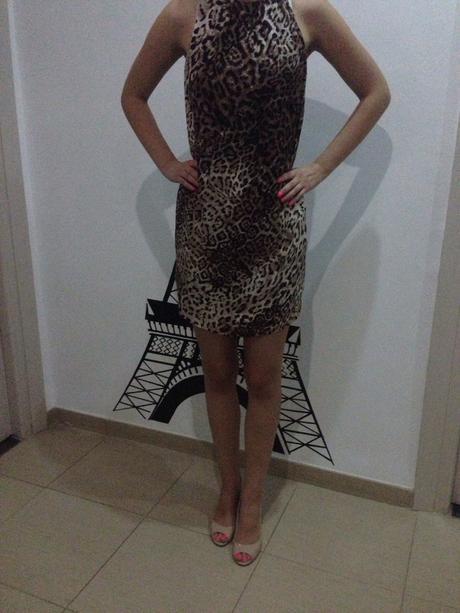 Leopardni satenove saty Zara, 36