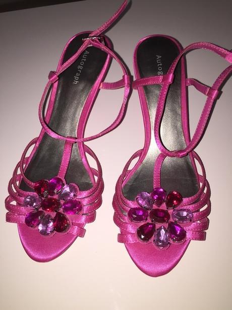 Ruzove spolecenske sandalky Marks&Spencer, 36