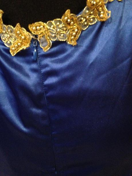 Kráľovsky modré spoločenské šaty , 38