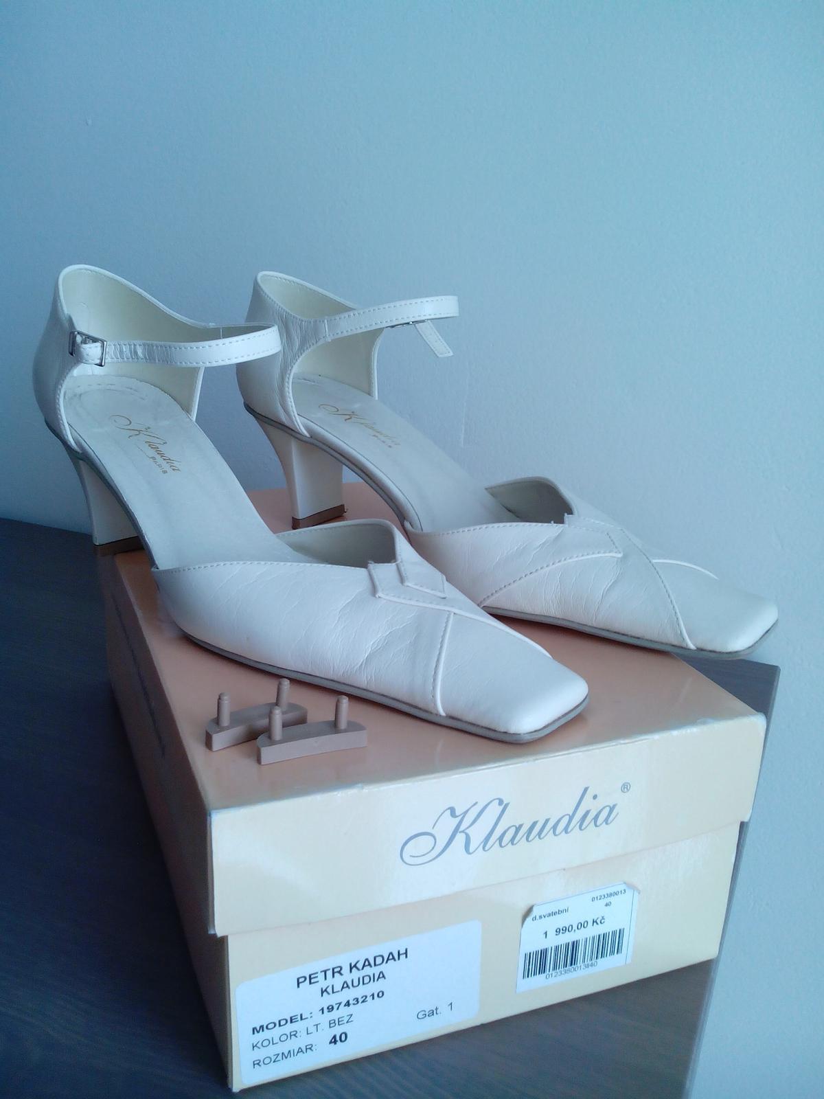 6a08126cca2 Svatební boty šampaň 40-41