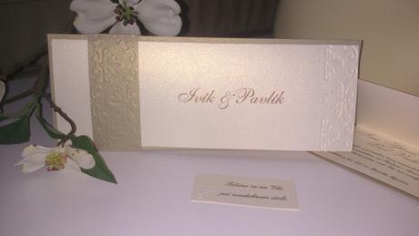zlate svadobne oznámenie,