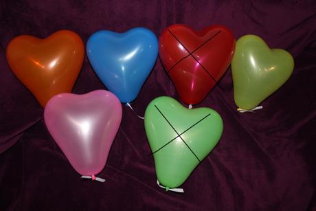 balonky ve tvaru srdce,