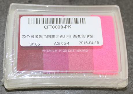 razítkovací polštářek růžové odstíny,