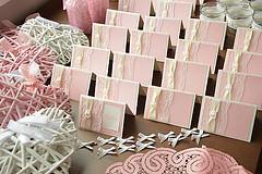Jmenovky na svatební tabuli, 24ks,