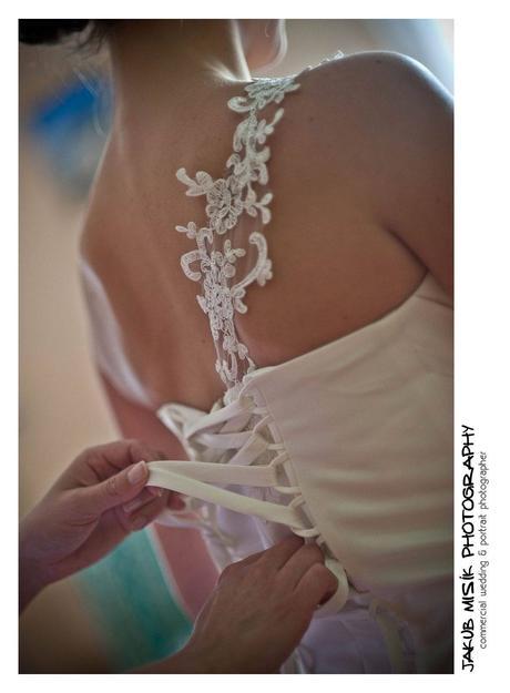 Smetanové svatební šaty, 38