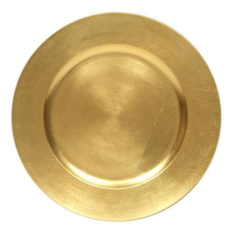 Dekoračné taniere zlaté akryl,