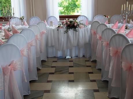 mašľa na stoličku ružová jemná,