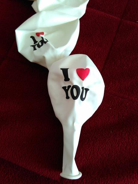 Balónky I LOVE YOU,