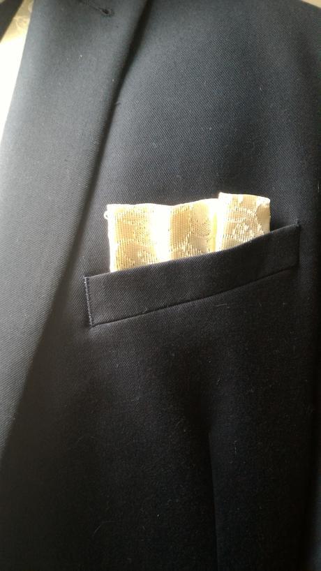 Pánska svatební vesta + regata a kapesníček, 48
