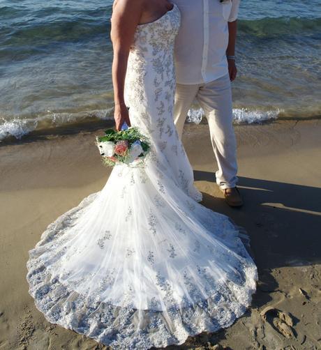 Svatební šaty - imitace modelu Maggie Sottero, 40