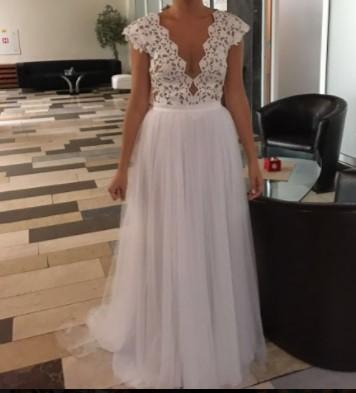 Luxusní svatební šaty 36 38 f5c4747659