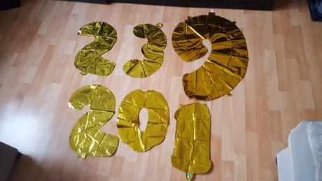 Zlaté foliové balónky - čísla,