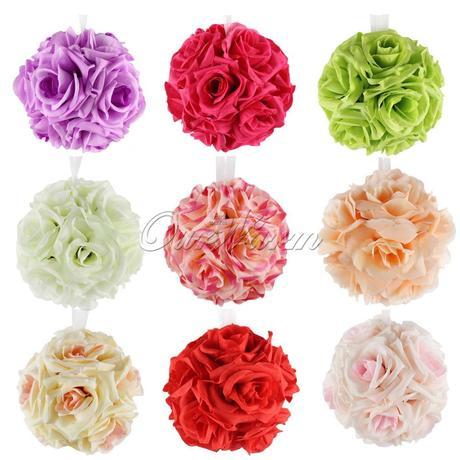 Kvety guľa rôzne farby - 5 ks,