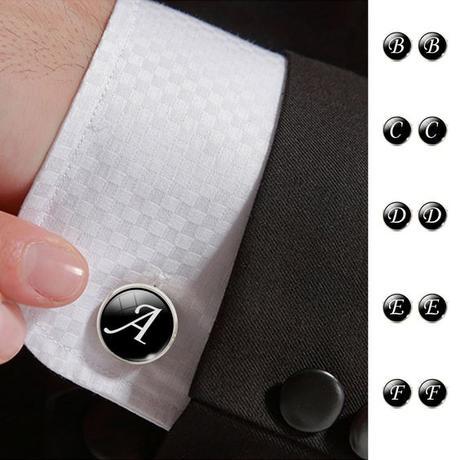 Manžetové gombíky - všetky písmená abecedy,