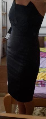 Nepoužité čierne šaty , 36