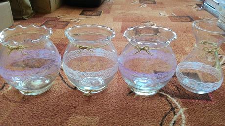 Skleněné vázy,