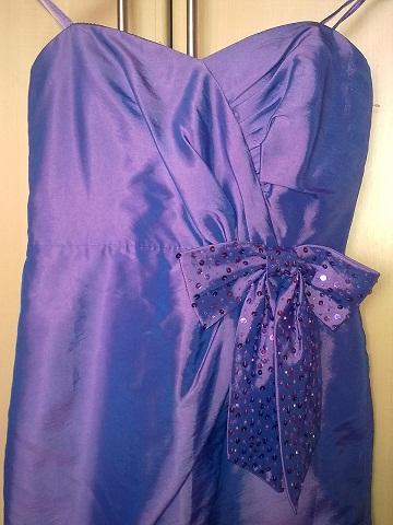 Fialové šaty love label lipsy velkost 36 , 36