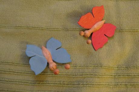 Drevené motýliky,
