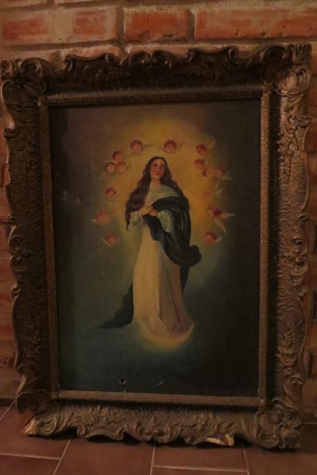 Maľovaný obraz anjelici,
