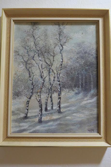 Maľovaný obraz - brezy,