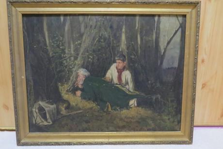 Maľovaný obraz na plátne,