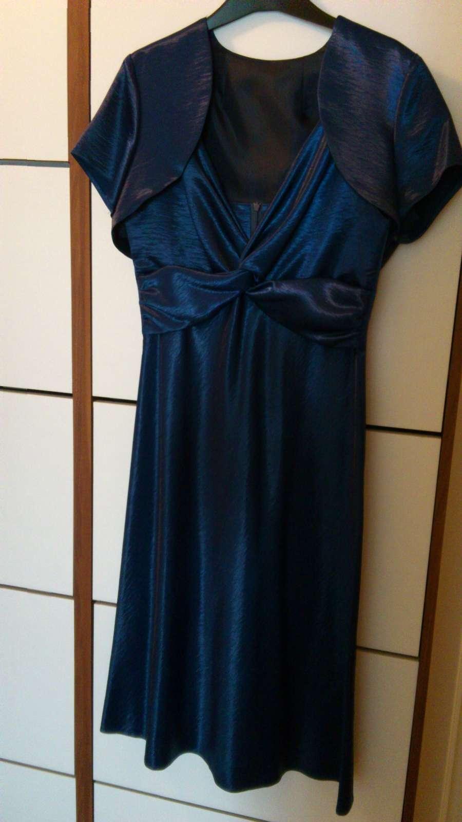74bf031d34d Modre plesove saty z bolerkem