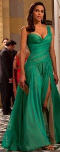 spoločenské zelené šaty ako z filmu, 34