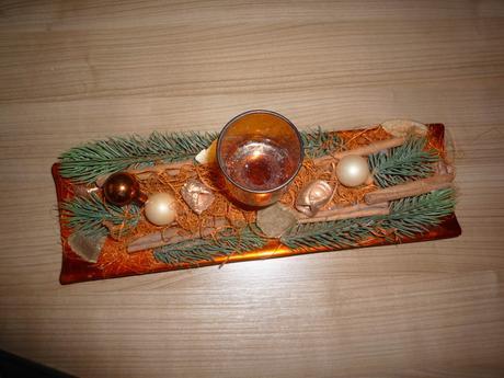 vianočná dekorácia na stol,