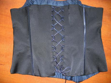 modrý korzet 40/42, 42