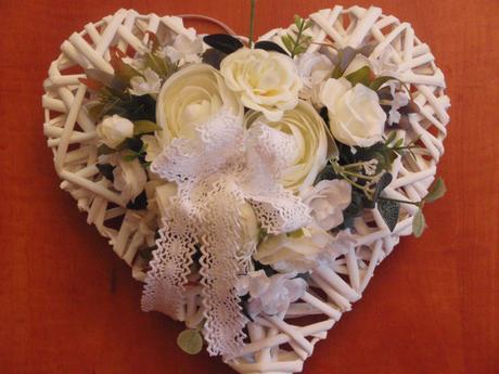 Bielo - ivory srdce,