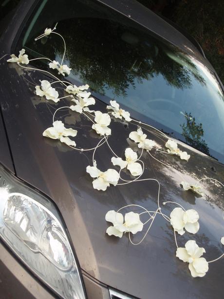 Č 7 výzdoba na auto z orchideí - rôzne farby,