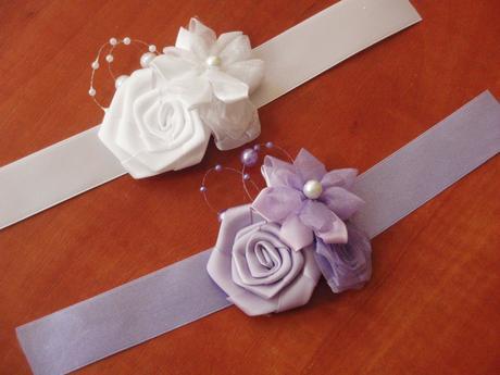 Náramky pre družičky z 3 kvetov - viac farieb,