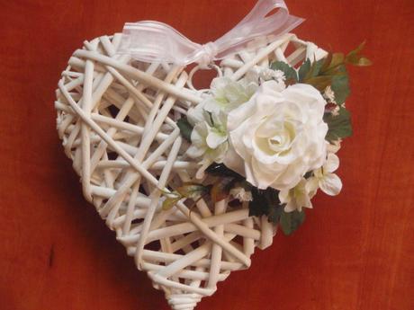 Srdce s ružou - rôzne farby,