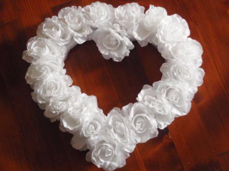 Veľké srdce z ruží na auto - rôzne farby,