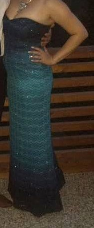 dlhé modrasté šaty , 38