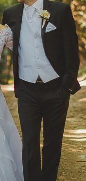 svadobna vesta+kravata+vlozka do vrecka, 48