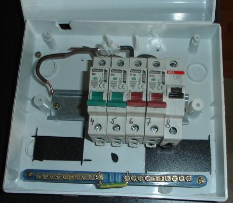 modulový rozvádzač na omietku,
