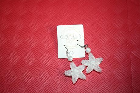 Naušnice biele hviezdy,