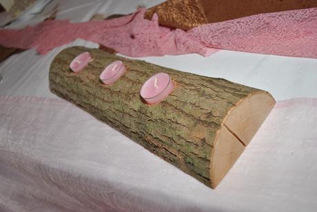 drevené svietniky,
