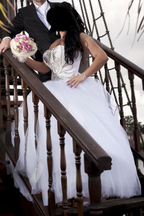 Svadobne šaty velkost 40-44, 42