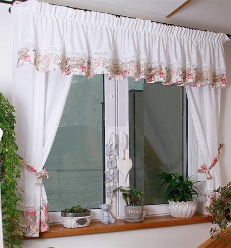 Vintage záclona,