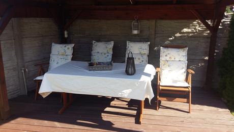 Záhradný stôl zo severskej borovice ,