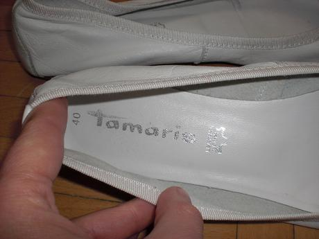 Tamaris značkové kožené balerínky, 40