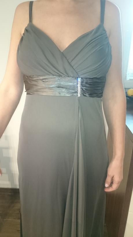 Spoločenské šaty hnedé, 40