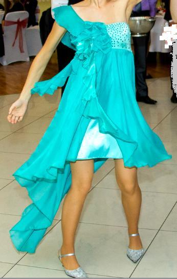Spoločenské šaty s jabloneckou bižutériou - kamene, XS