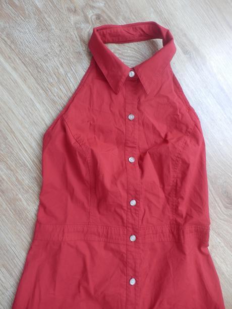 Červené propínací šaty velikost cca 38, 38