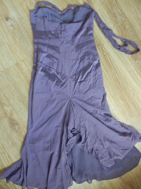 Dámské fialové hedvábné šaty Karen Millen, 38