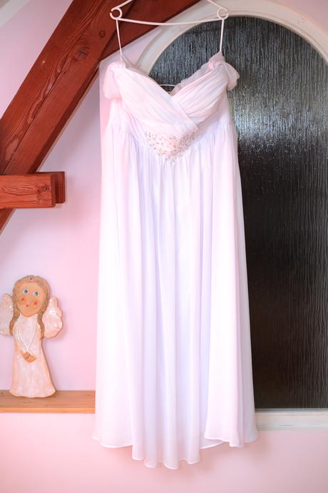 Svatební šaty 48-52 sněhobílý šifon, 48