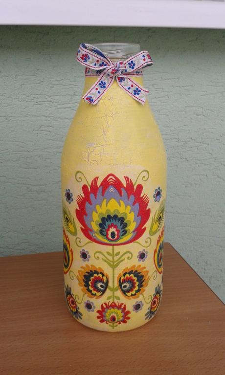 Dekoračná fľaša,
